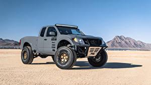 Desktop hintergrundbilder Nissan Graues Pick-up 2019 Frontier Desert Runner automobil
