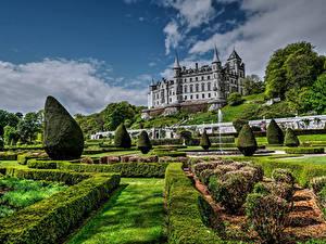 Fotos Schottland Burg Garten Strauch Design Dunrobin Castle Golspie Städte