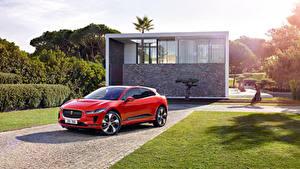 Fotos Jaguar Rot Metallisch 2018 I-Pace EV400 AWD HSE Worldwide Autos