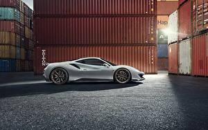 Hintergrundbilder Ferrari Seitlich Weiß Novitec 488 Pista auto