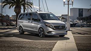 Image Mercedes-Benz Silver color 2019 Concept EQV auto