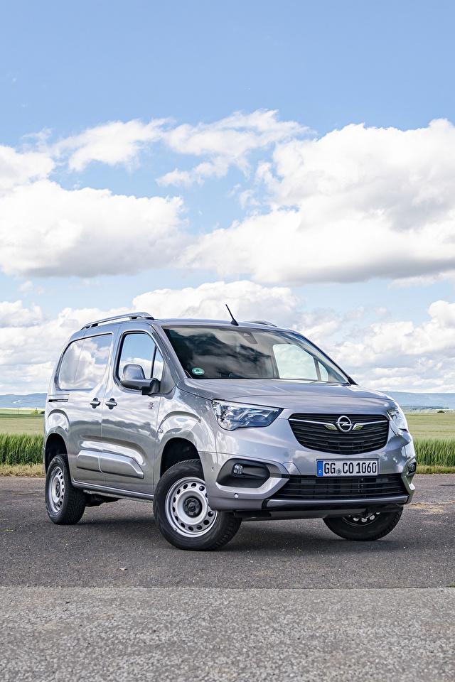 Desktop Hintergrundbilder Opel Ein Van Grau Autos Metallisch 640x960 für Handy graue graues auto automobil