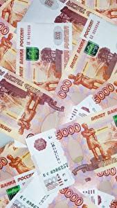 Fotos Geld Banknoten Rubel Textur 5000
