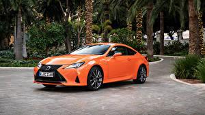 Fondos de Pantalla Lexus Naranja Metálico 2018-19 RC 300h F SPORT Worldwide automóvil