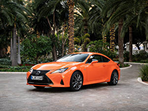 Hintergrundbilder Lexus Orange Metallisch 2018-19 RC 300h F SPORT Worldwide Autos