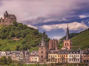 Bilder Deutschland Gebäude Burg Bacharach Städte