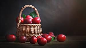Bilder Pflaume Rot Weidenkorb
