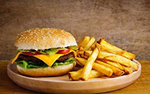 Hintergrundbilder Burger Brötchen Fritten Fast food Lebensmittel