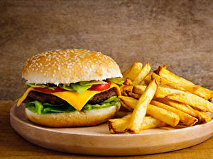 Hintergrundbilder Burger Brötchen Fritten Fast food