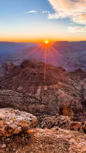Pictures Grand Canyon Park USA Mountains Sunrises and sunsets Scenery Canyon Arizona Nature