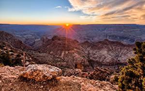 Hintergrundbilder Grand Canyon Park USA Gebirge Sonnenaufgänge und Sonnenuntergänge Landschaftsfotografie Canyon Arizona