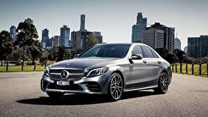 Image Mercedes-Benz Silver color AMG C-class W205 Cars