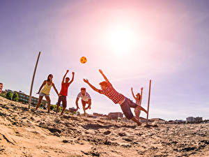 Pictures Ball Sand Beach Volleyball Sport