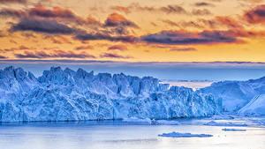 Bilder Grönland Himmel Bucht Eis Wolke Natur