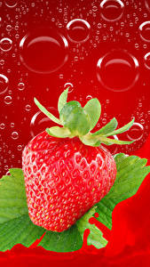 Image Strawberry Water splash Drops Food