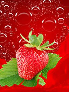 Hintergrundbilder Erdbeeren Wasser spritzt Tropfen
