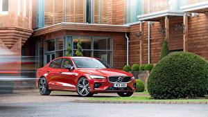 Pictures Volvo Red Metallic 2019 S60 T5 R-Design Cars