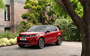 Pictures Land Rover Red Metallic Hybrid vehicle SUV 2019 Discovery Sport D180 HSE R-Dynamic Worldwide Cars