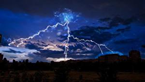 Bilder Himmel Nacht Blitz Wolke