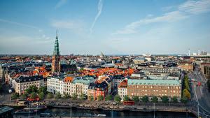 Fotos Dänemark Kopenhagen Gebäude Seebrücke Stadtstraße Von oben Städte