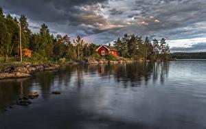 Fotos Norwegen Flusse Wälder Gebäude Ringerike Natur