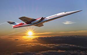 Bilder Flugzeuge Boeing Sonne Flug concept Aerion AS2 supersonic business jet Luftfahrt