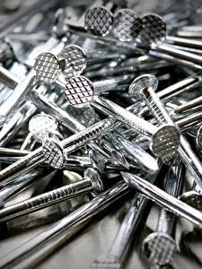 Bilder Nahaufnahme Eisen Nagel Silber Farbe Natur