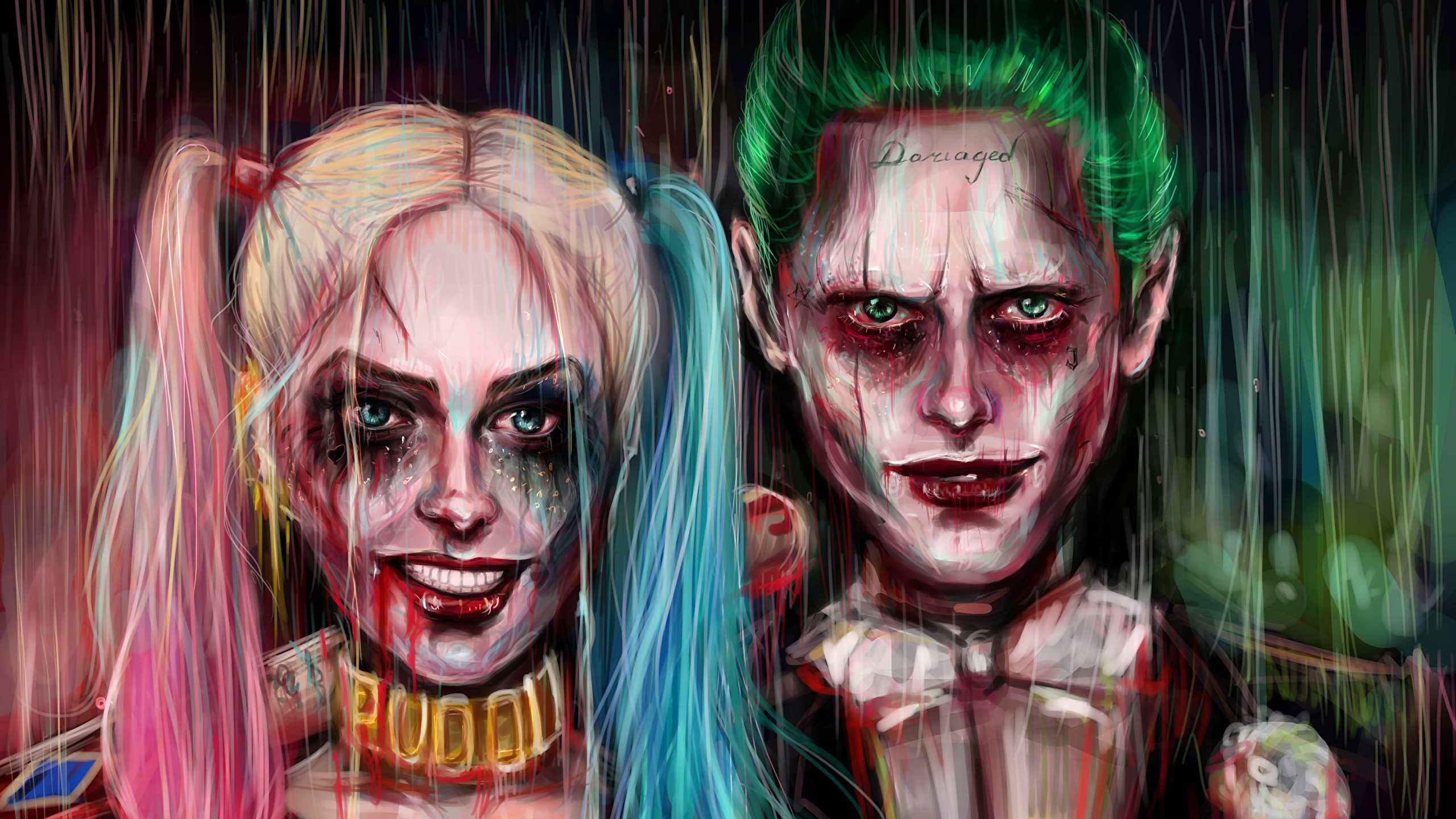 Photo Suicide Squad 2016 Jared Leto Margot Robbie Joker 2560x1440