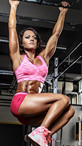 Fotos Fitness Körperliche Aktivität Bein Mädchens Sport