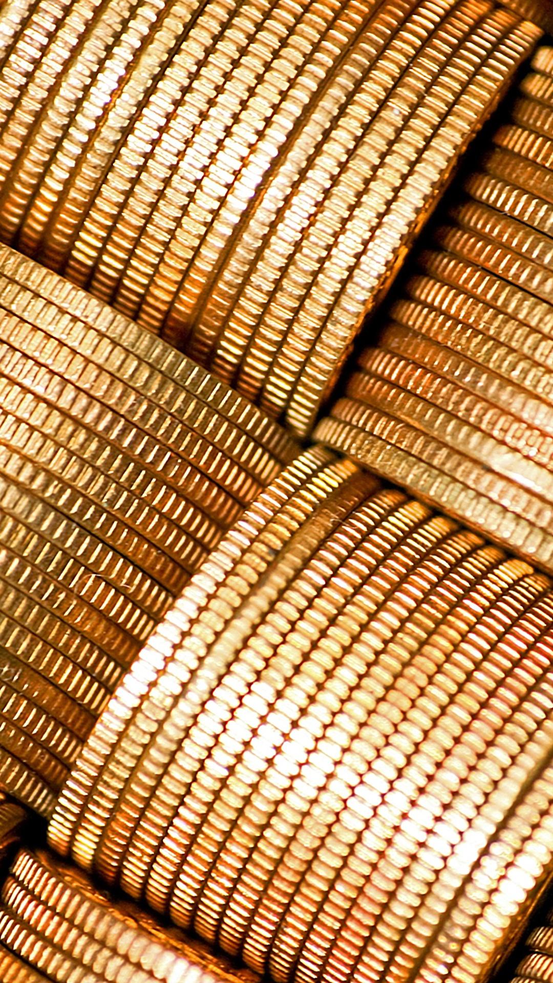 Foto Münze Textur Geld Großansicht 1080x1920 für Handy hautnah Nahaufnahme