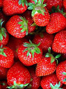 Hintergrundbilder Erdbeeren Textur Großansicht Rot das Essen