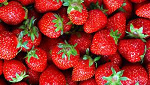 Hintergrundbilder Erdbeeren Textur Großansicht Rot