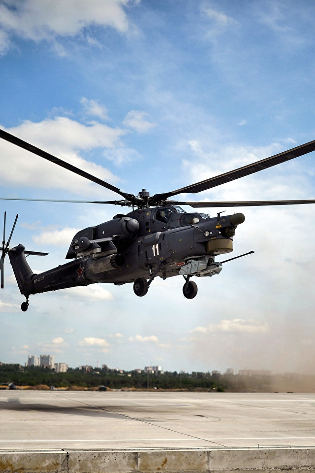 Fotos Hubschrauber Russische Mi-28N Luftfahrt 640x960