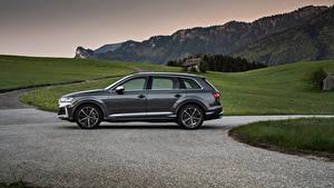 Bilder Audi Softroader Grau Metallisch Seitlich SQ7 TFSI, Worldwide, 2020 Autos