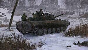 Fotos SPz Soldaten Winter Russische Schnee Heer
