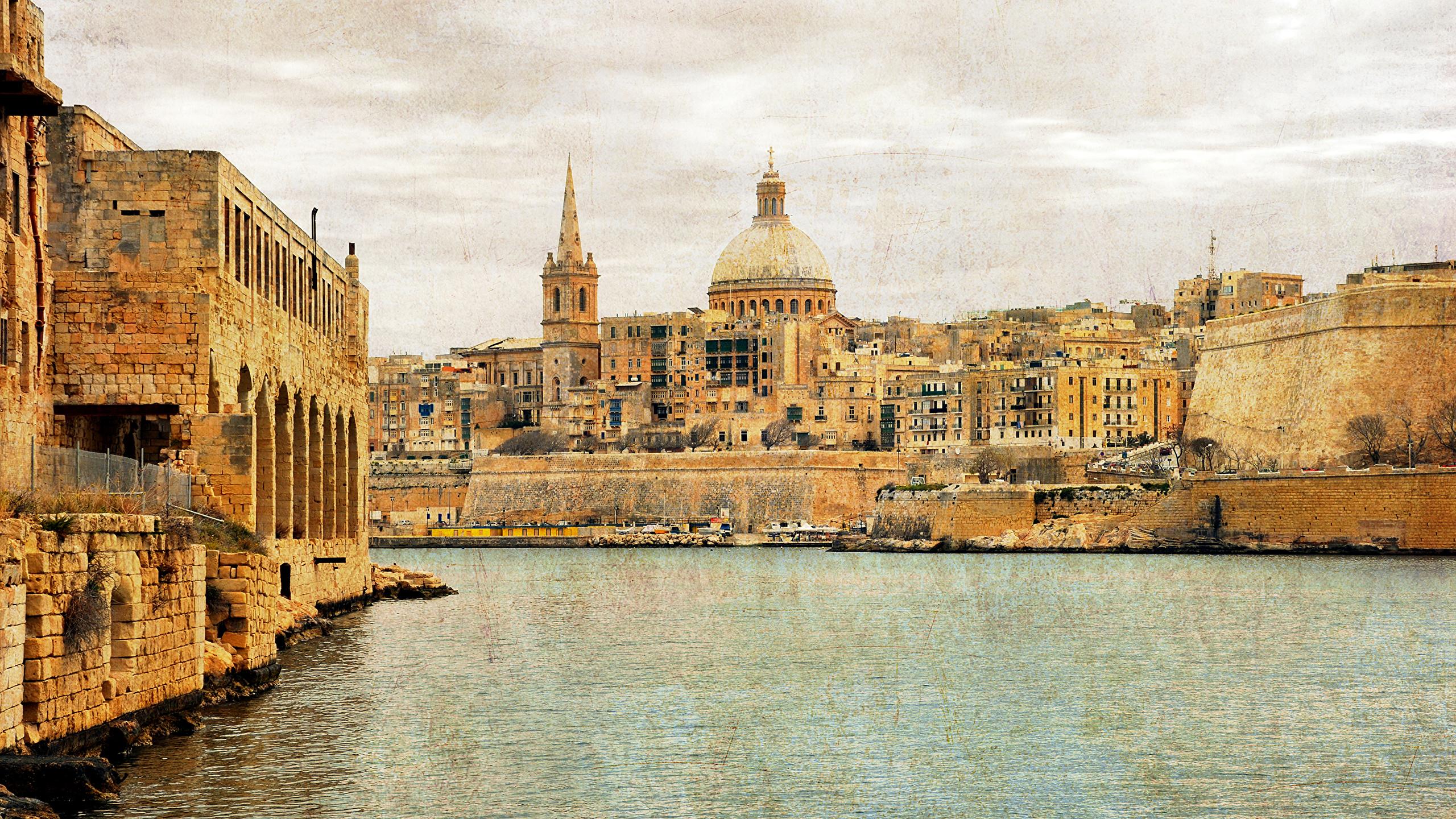 Picture Malta Sliema Bay Cities Building 2560x1440 Images, Photos, Reviews