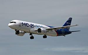 Fotos Flugzeuge Verkehrsflugzeug Russische MS-21-300 Luftfahrt