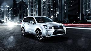 Hintergrundbilder Subaru Weiß 2016 Forester 2.0XT  Brown Leather Selection