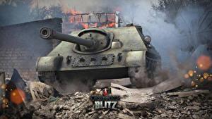 Bilder World of Tanks Selbstfahrlafette Russischer Blitz, SU-122-44 Spiele