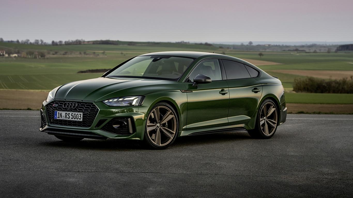 Papeis De Parede 1366x768 Audi Rs5 Sportback 2020 Verde Metalico Carros Baixar Imagens