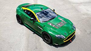 Fondos de Pantalla Aston Martin Metálico Verde 2010-19 V8 Vantage GT4 automóviles