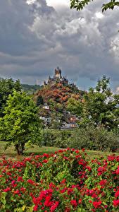 Hintergrundbilder Deutschland Cochem Haus Burg