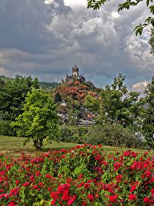Hintergrundbilder Deutschland Cochem Haus Burg Städte
