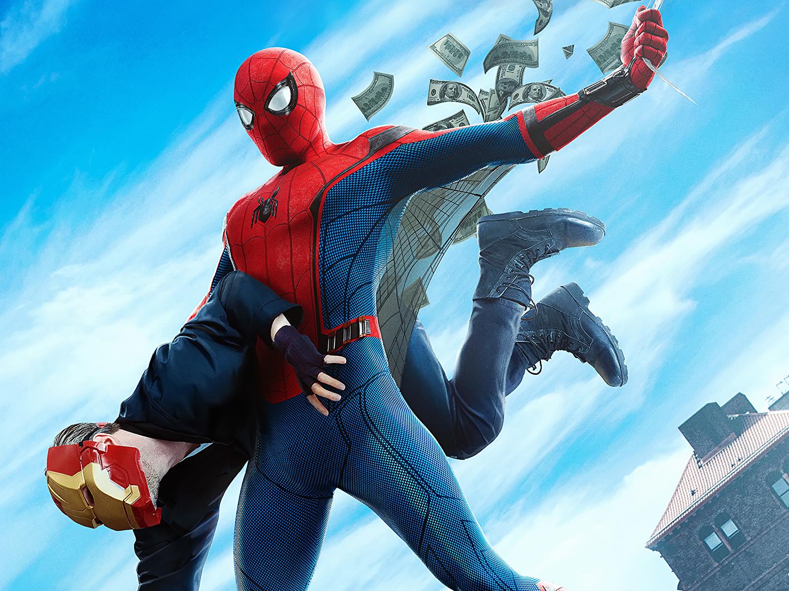 Desktop Wallpapers Spider-Man: Homecoming Heroes comics Spiderman hero film 1600x1200 for Mobile phone superheroes Movies