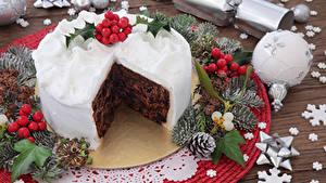 Hintergrundbilder Neujahr Süßware Torte Ast Kugeln Zapfen Design Lebensmittel