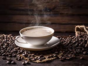 Fotos Kaffee Tasse Dampf Getreide Lebensmittel