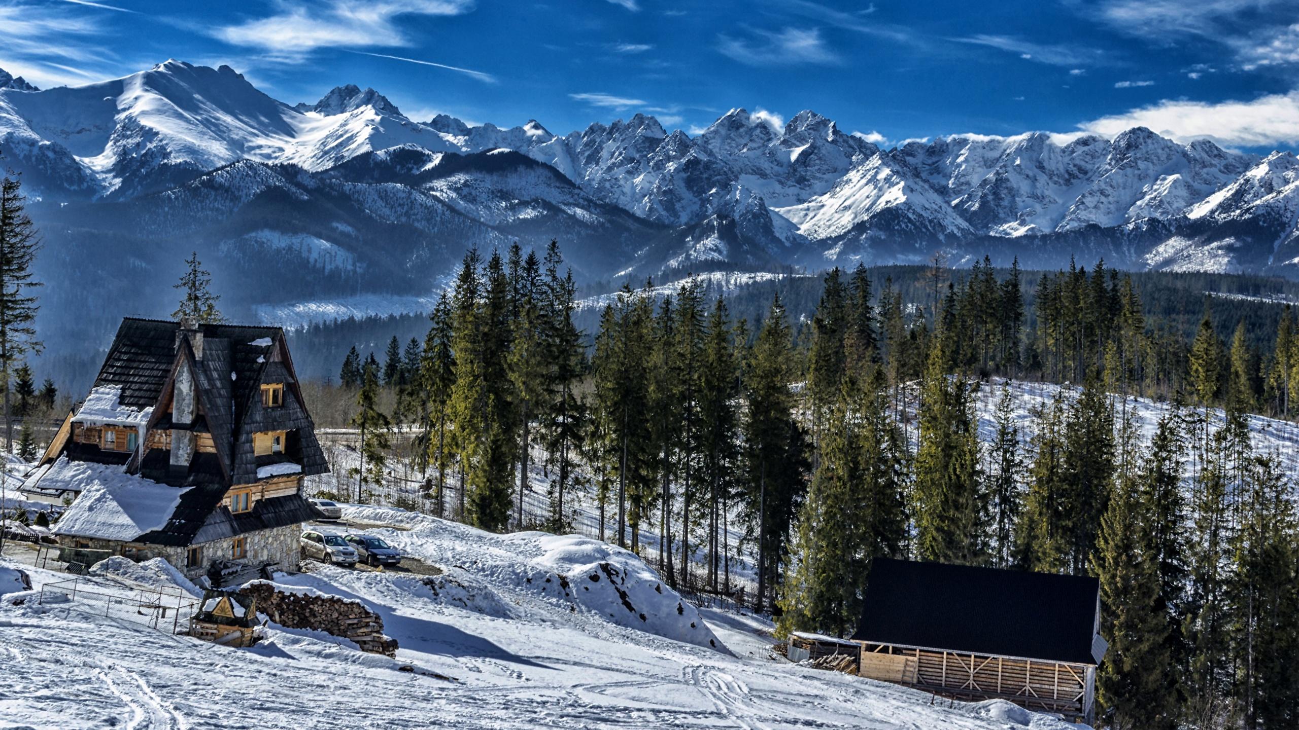 Photos Slovakia Tatra Mountains Nature Winter Mountain 2560x1440