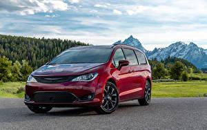 Photo Chrysler Dark red Metallic  automobile