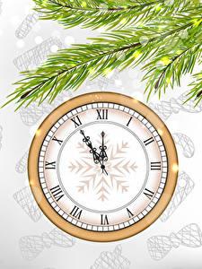 Hintergrundbilder Neujahr Uhr Ast