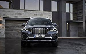 Bureaubladachtergronden BMW Vooraanzicht Cross-over auto 2019 X7 G07 auto's